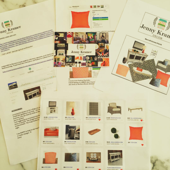 Each E-Design comes complete with the shopping list, details on how to implement the look, and all within your budget!