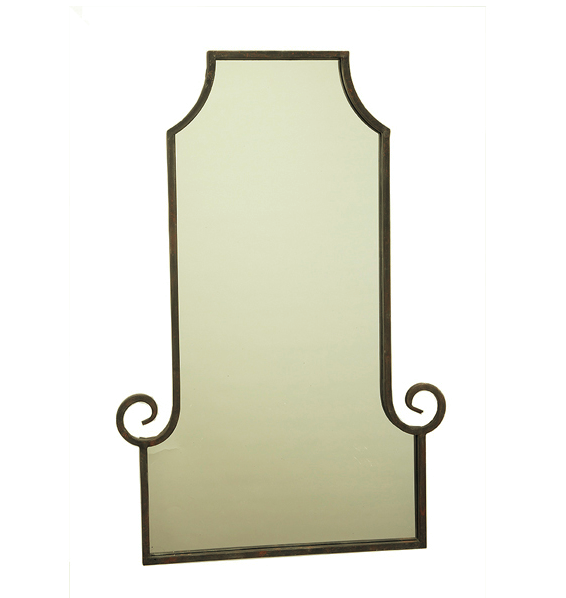 Scroll pagoda style metal mirrors - can order