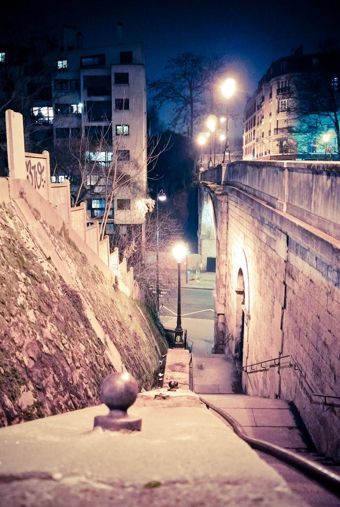 Escalier du pont Charles Renouvier