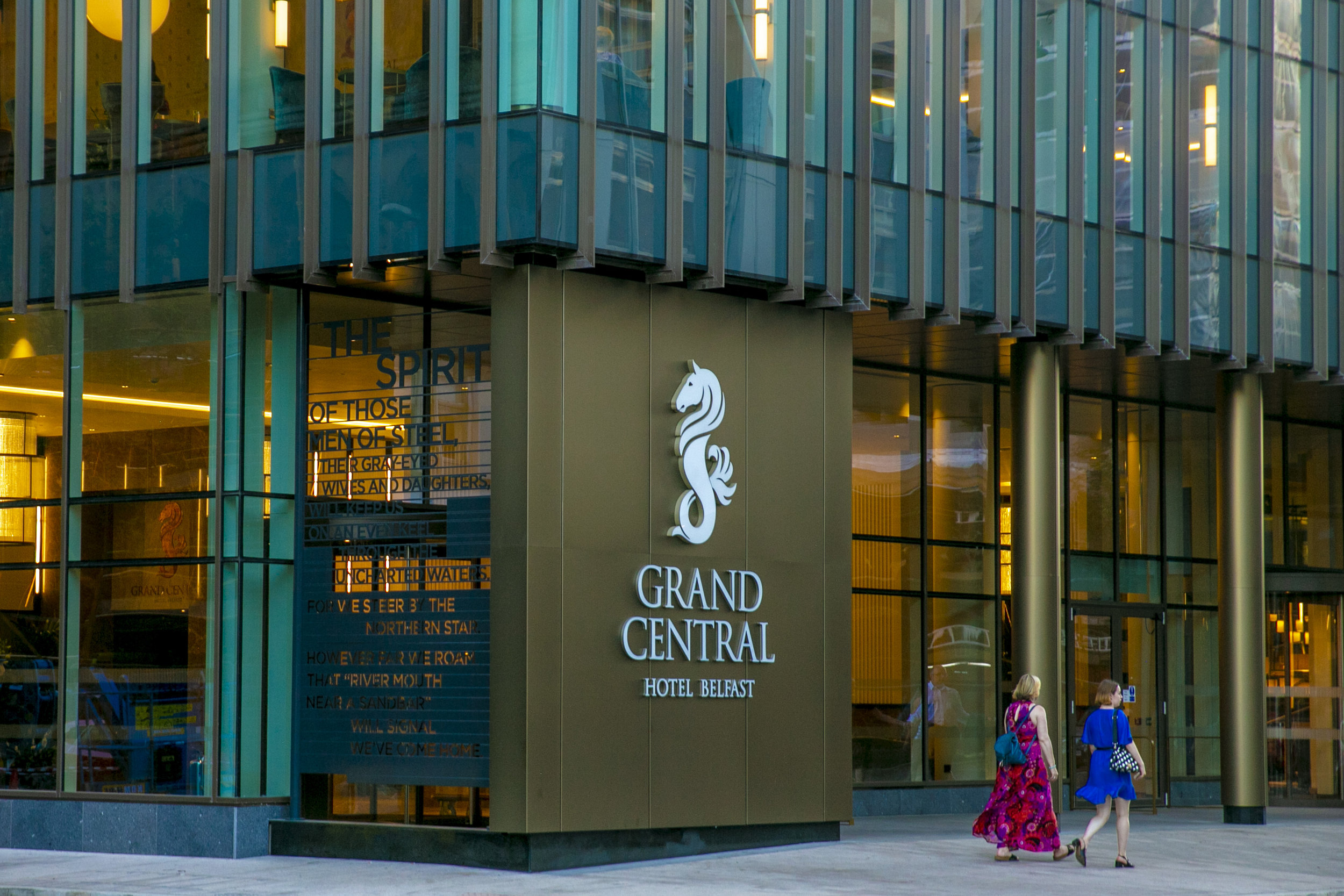 Grand Central - September saw the opening of Belfast's newest (and tallest) hotel, the Grand Central. To tell the incredible story of Belfast, past and present, we looked to Pulitzer Prize winner, Paul Muldoon for help.
