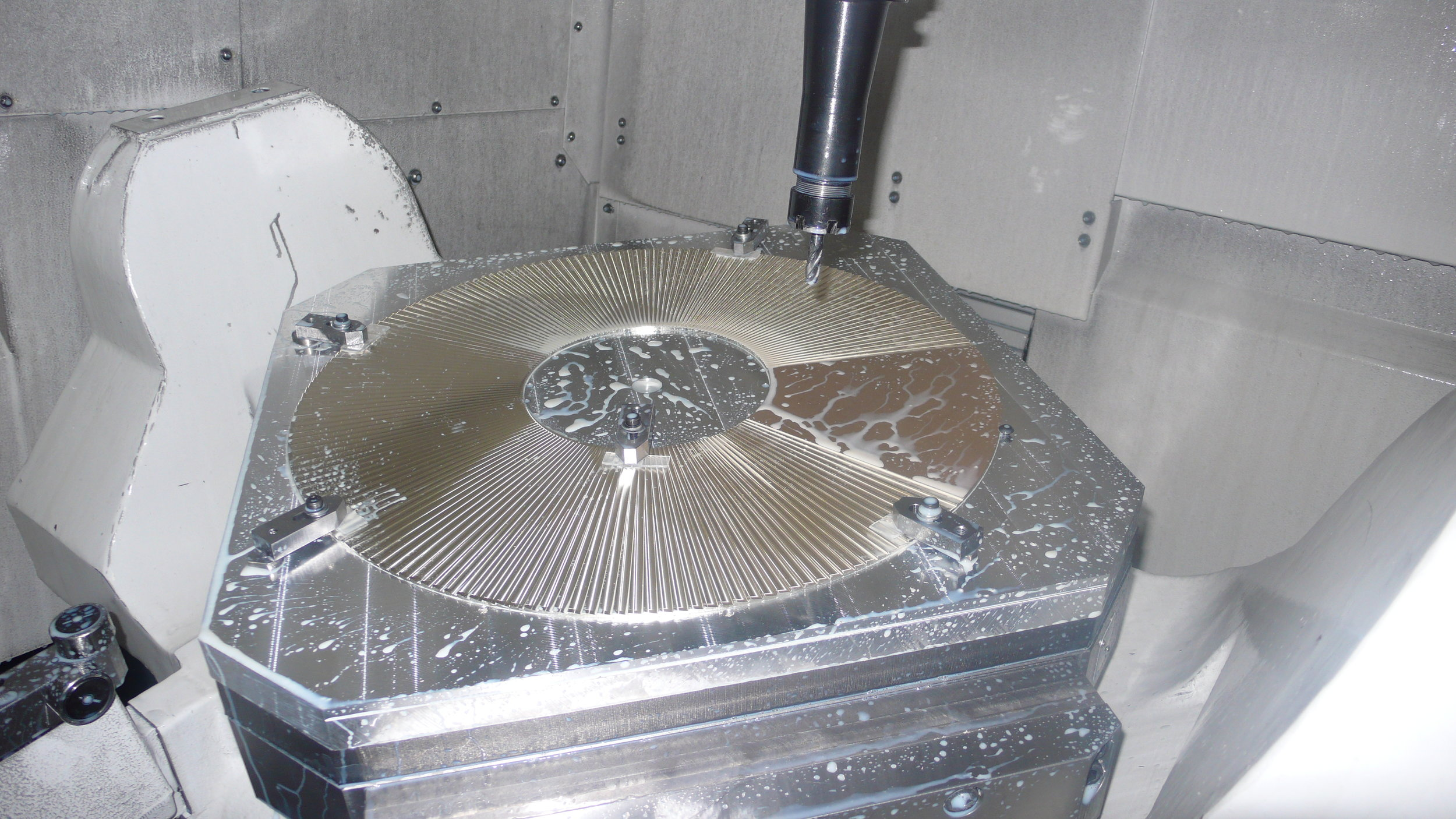 Machining of solid silver decorative bowl