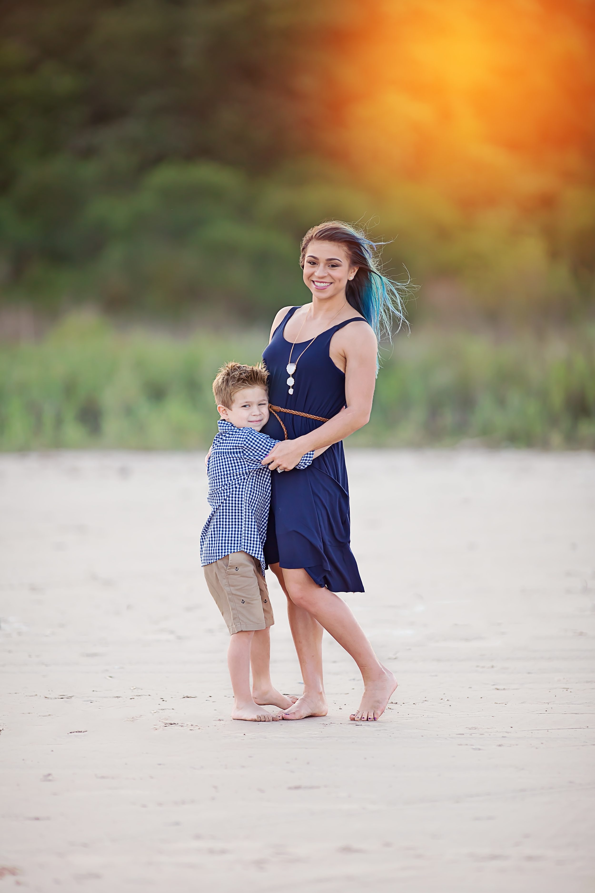 Beautiful mommy and son!
