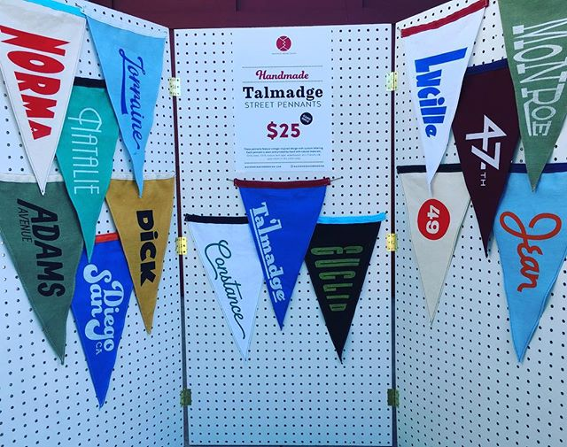 47th and Euclid pennants are available for sale now. As in right now! Stop by until 6pm. Email me for address if you don't know where to find me. mackenziemooredesign@gmail.com