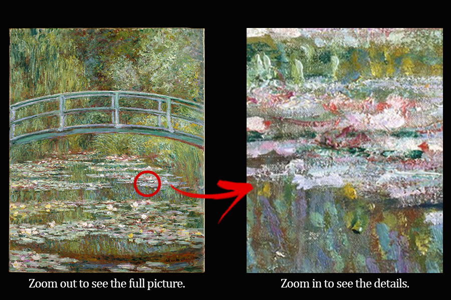 "Courtesy of  The MET  ""Bridge Over A Pond of Water Lilies"" by Claude Monet"