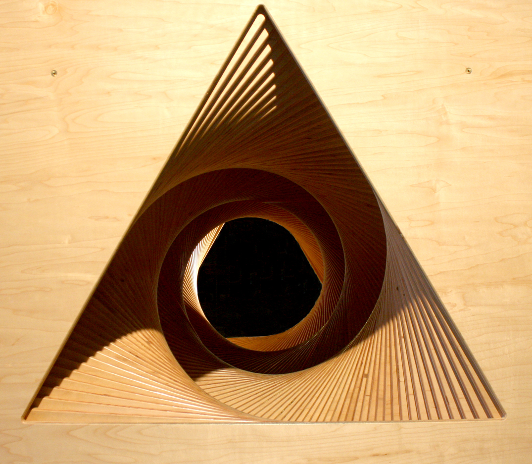 Rotating Triangles Tunnel, detail