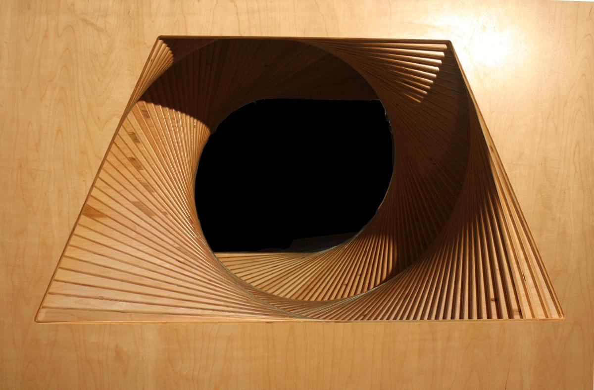 Rotatimg Trapezoids Cube, detail