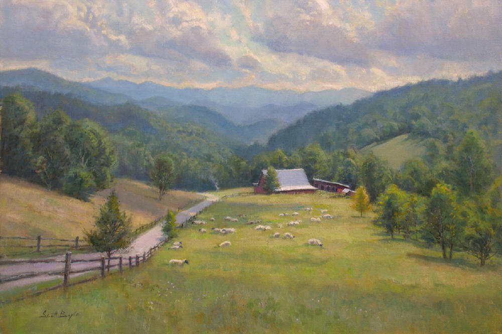 """Summer Hill Grazing"""