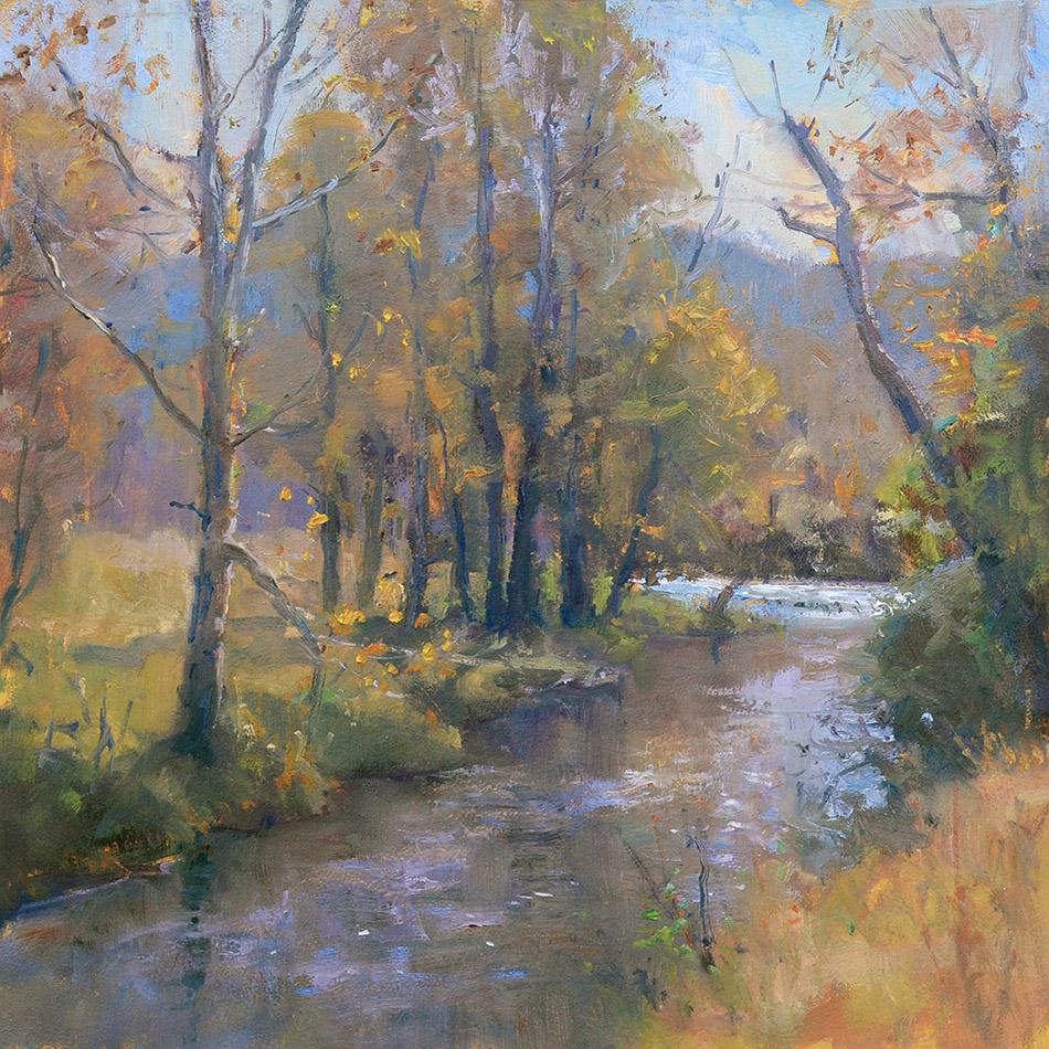 Johns River 11x12 oil plein air study