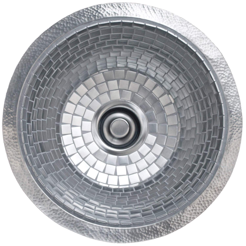 small round mosaic -