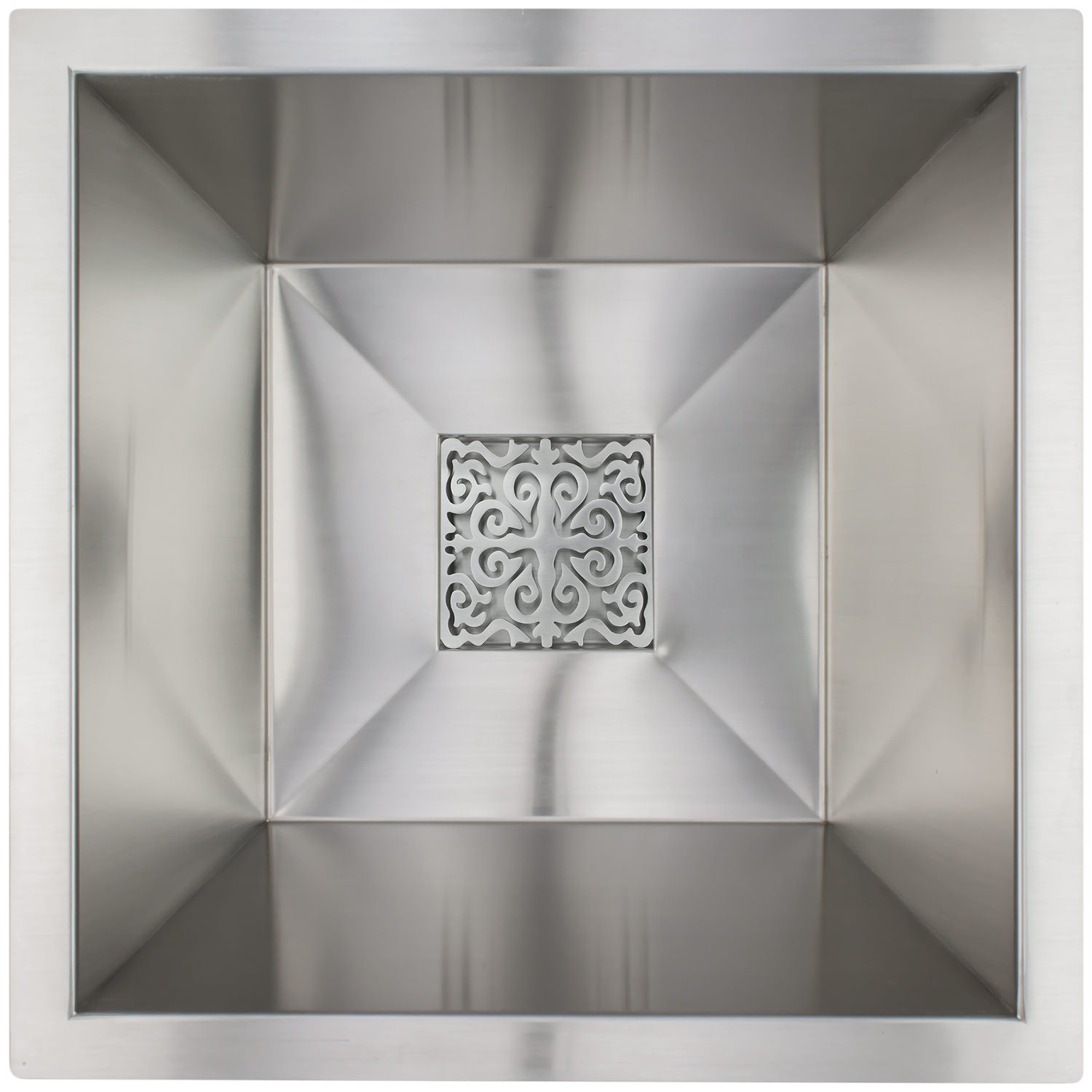 square bar sink w/ grate -
