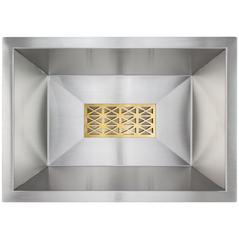 rectangular bar sink w/ grate -