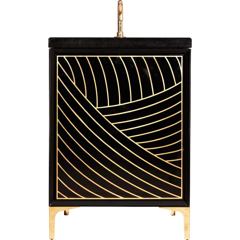 "VAN24B-001 24"" Black Lateen - Shown with PB (Polished Brass)"