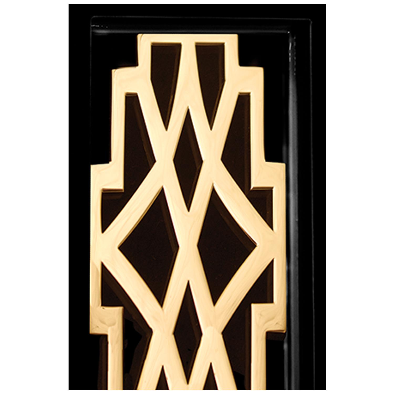 Black Frame With Deco Door Detail