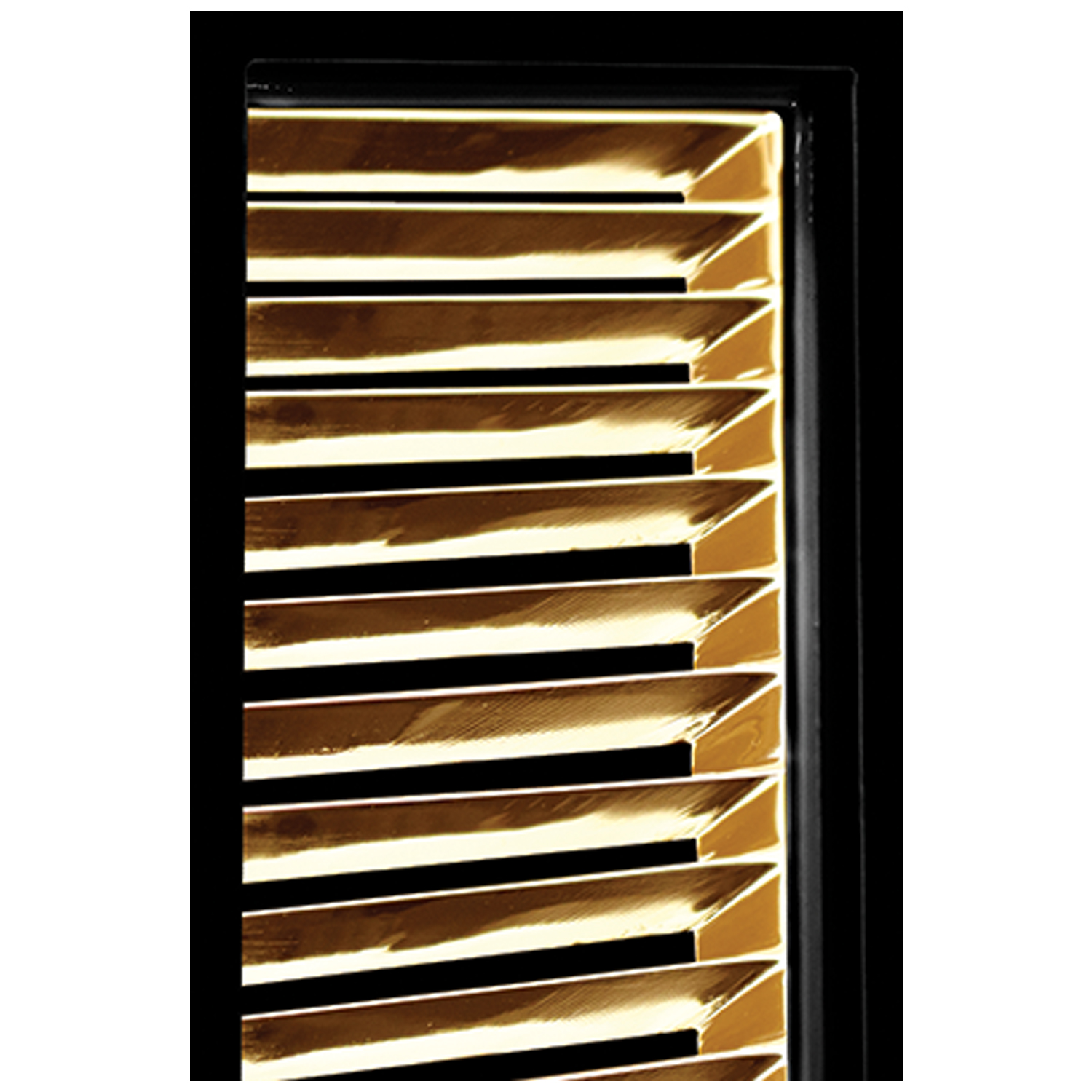 Black Frame With Louver Door Detail