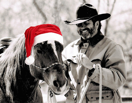 Tim and his horse Austin 2015 ~ Courtesy Tim Hayes Collection