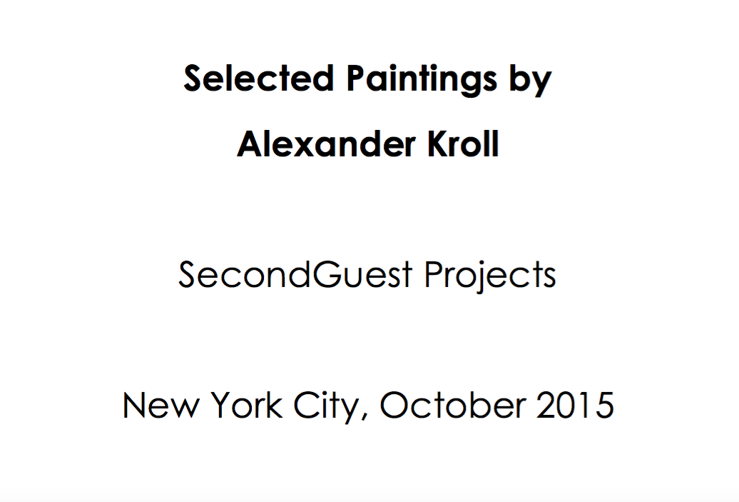 SecondGuest Projects   October 2015   Alexander Kroll