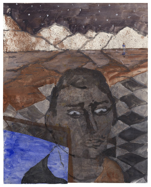 Lost Boys, 2017, oil on paper, 20 x 16 in