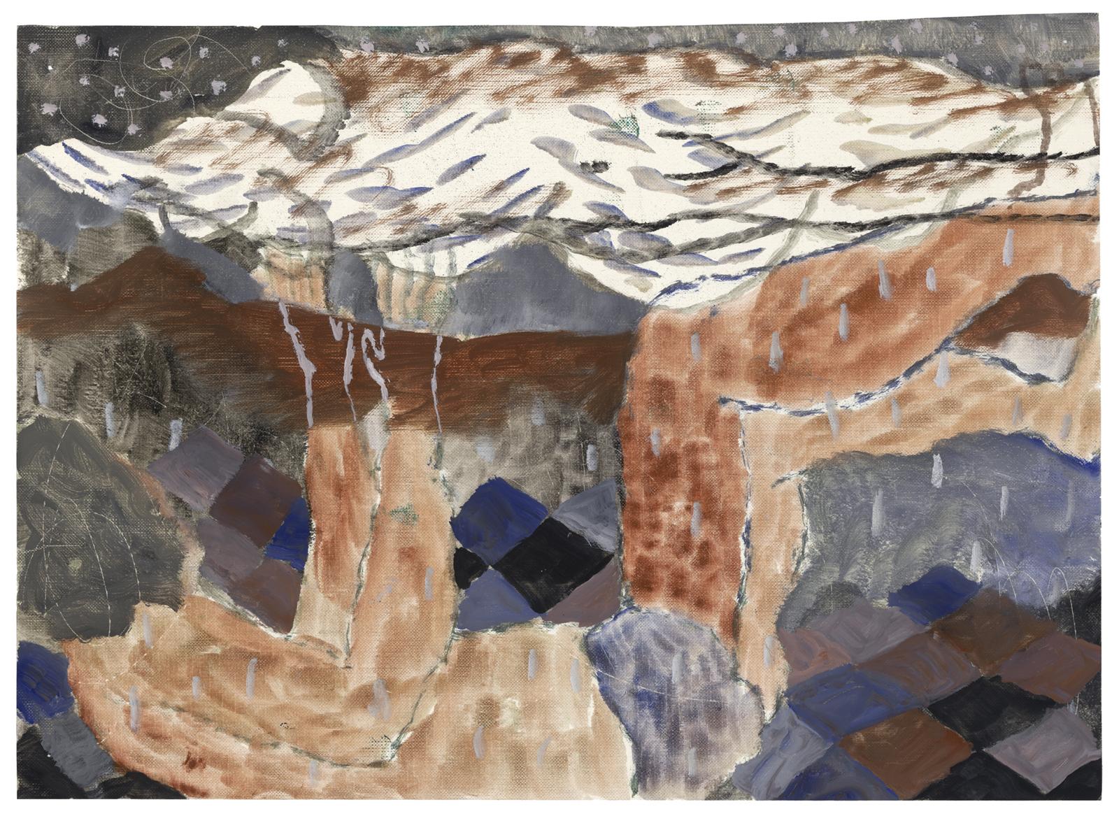 Three A.M., 2017, oil on paper, 11.5 x 16 in