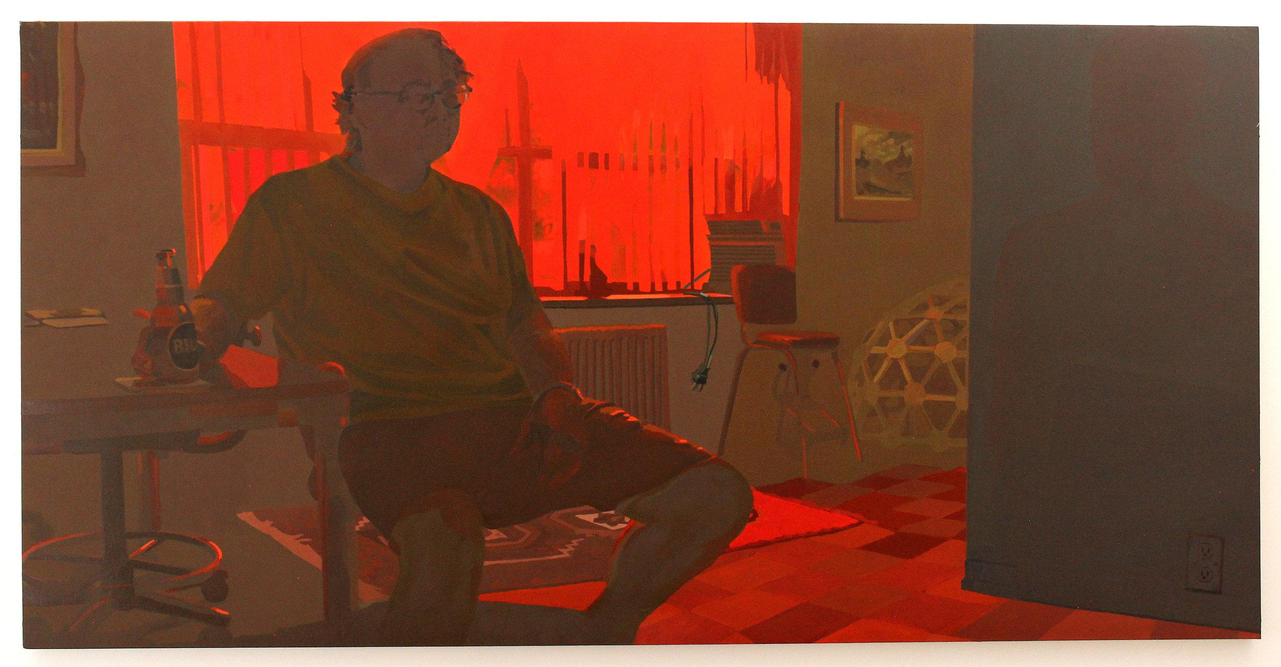 Keiran Brennan Hinton,  Extending the Day , 2017,48 x 96 inches