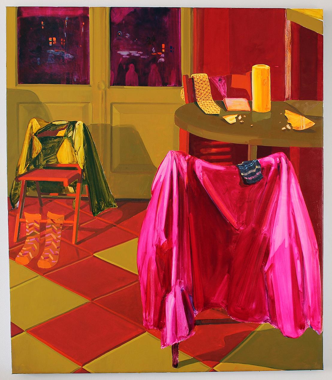 Keiran Brennan Hinton   MezzaNotte , 2018 oil on canvas 54 x 40 inches
