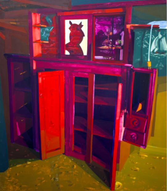 Keiran Brennan Hinton   Close at Hand , 2018 oil on canvas 58 x 50 inches