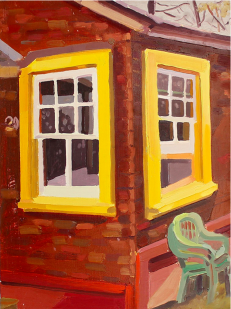 Keiran Brennan Hinton   Outside Yellow Window , 2018 oil on linen 12 x 9 inches