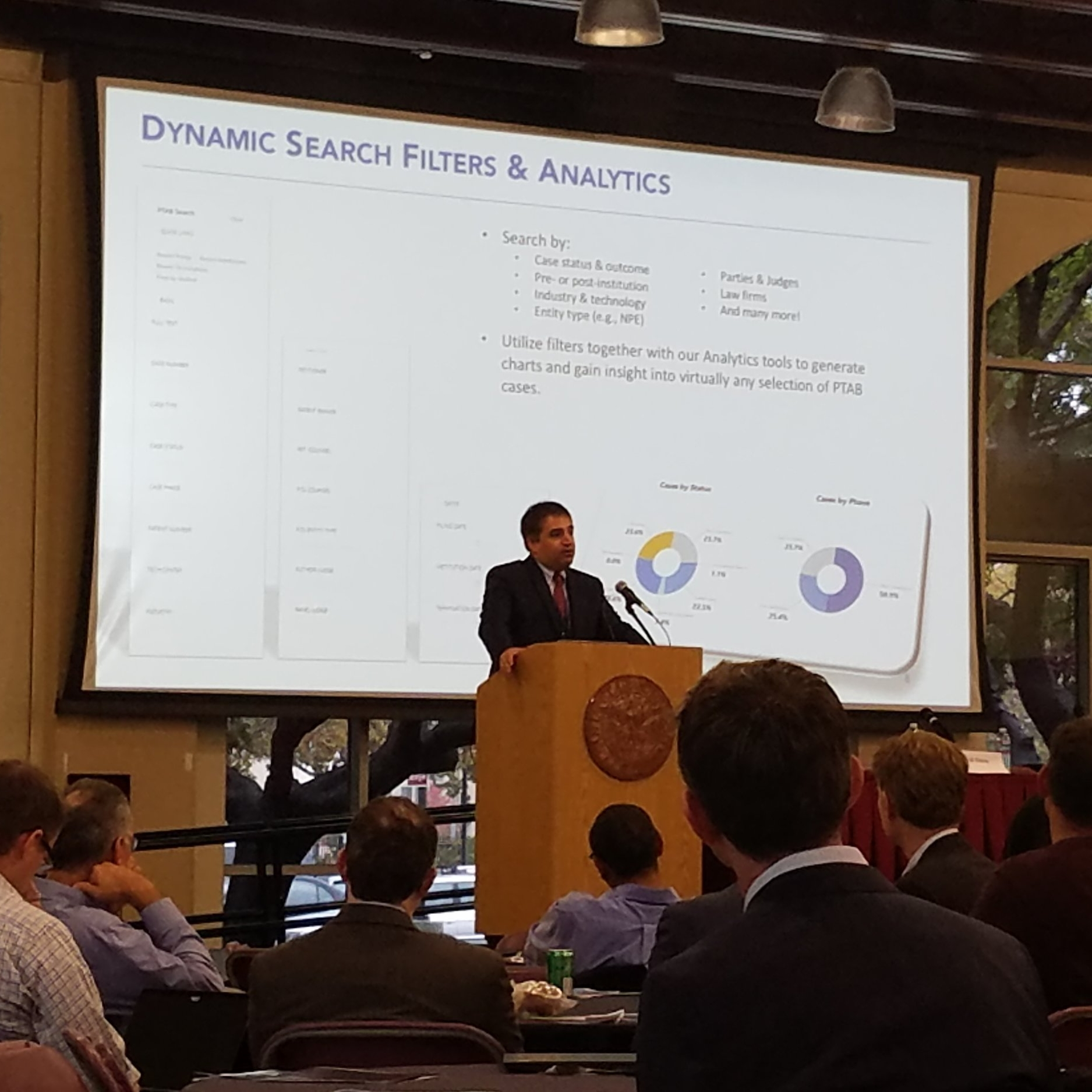 Shawn Ambwani (COO, Unified Patents) presents new analytics tools offered through Unified's Portal.
