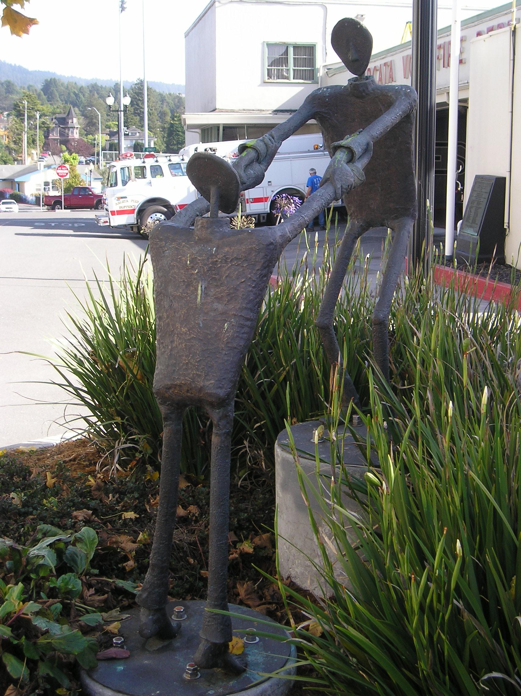 Grasp   Bronze  Located: Arcata California