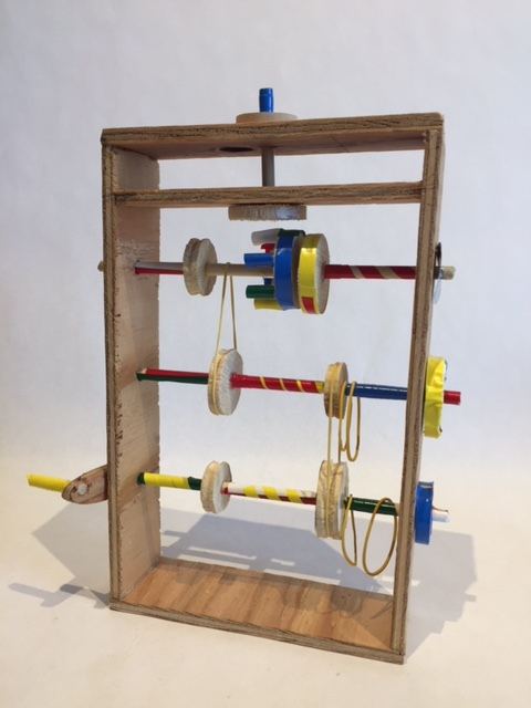 3D Design: Foundations  Automata project, wood and found object