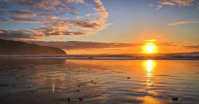 Incredible sunset on the Northern Oregon Coast