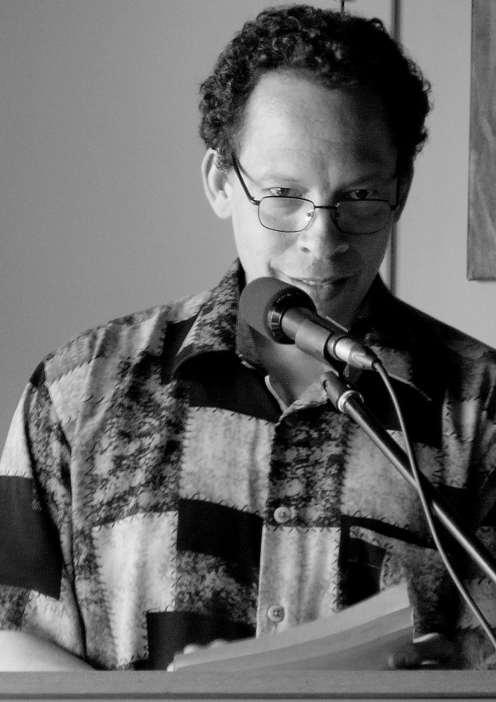 Lawrence Hill reading at Sage Hill, SK. Photo credit: T. Leedhahl