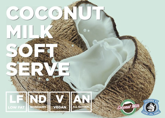 Coconut Milk Non-Dairy Soft Serve