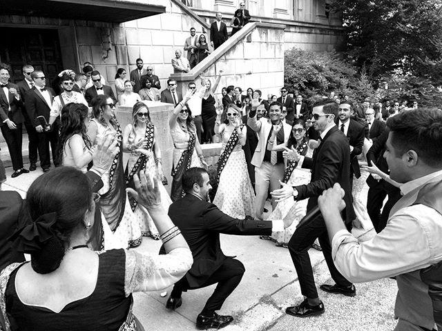 TGIF. Enjoy your Easter Weekend, everyone! . . . #partywithluxe #groom #bridalparty #brideandgroom #love #fusionwedding #pittsburghwedding #baraat #hype #shewent2jared @jaredjoc @anikaboc