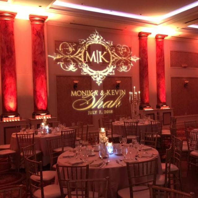 Don't forget to leave your mark. Walls, floors and ceilings can all be your canvas!  . . . #partywithluxe #Indianwedding #weddingdj #weddingdjs #weddingreception #reception #weddinginspiration #wedding #gobo #decoratewithlight  @jerseysboywonder @merion_caterers