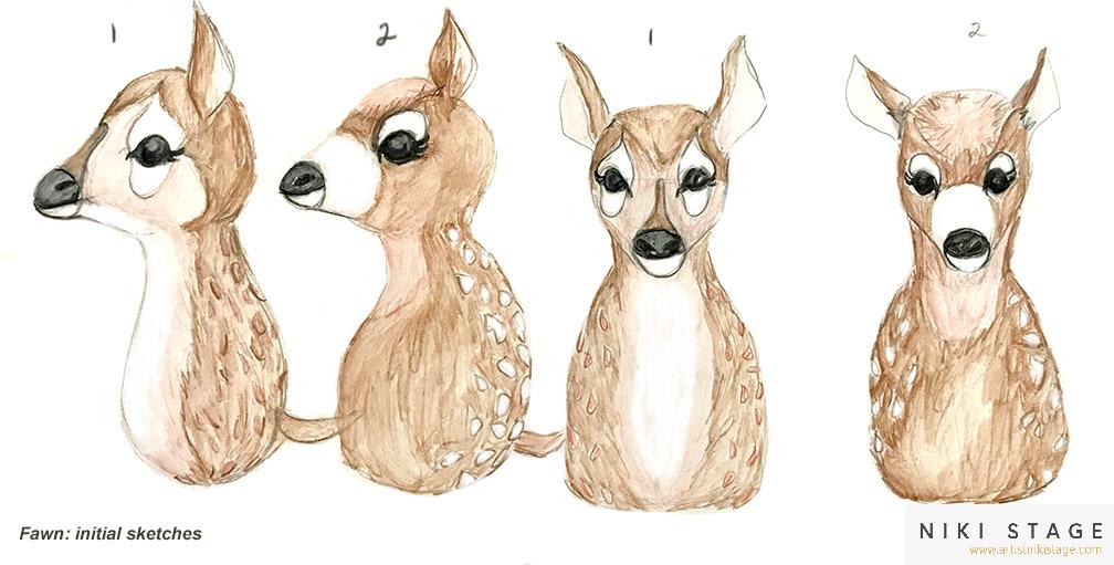 Large Eyes & Snout/ Spots on Back