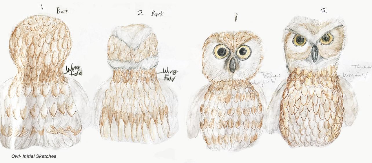 LARGE EYES/  Feather pattern