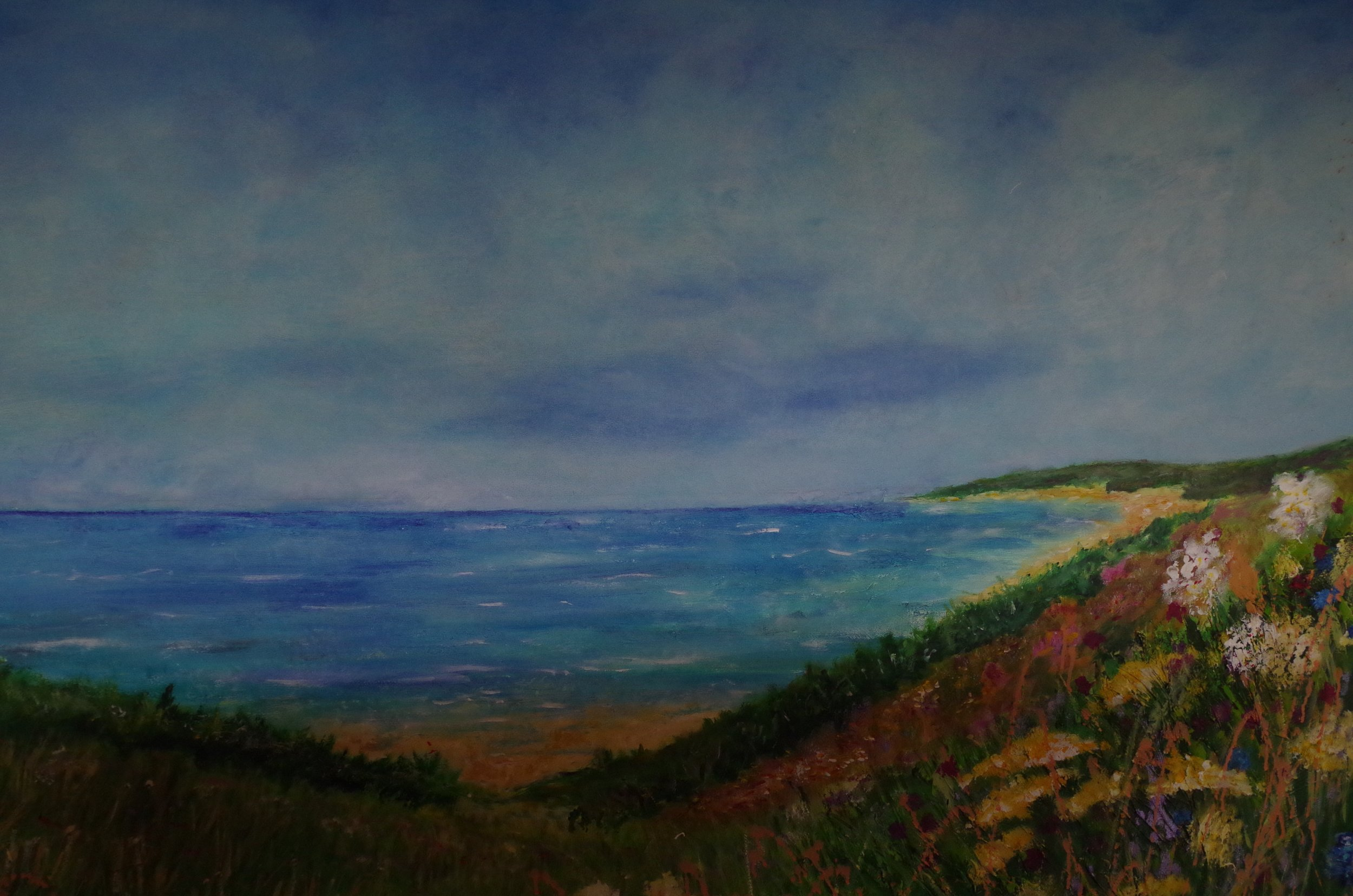 Another section of large Coastal painting commission