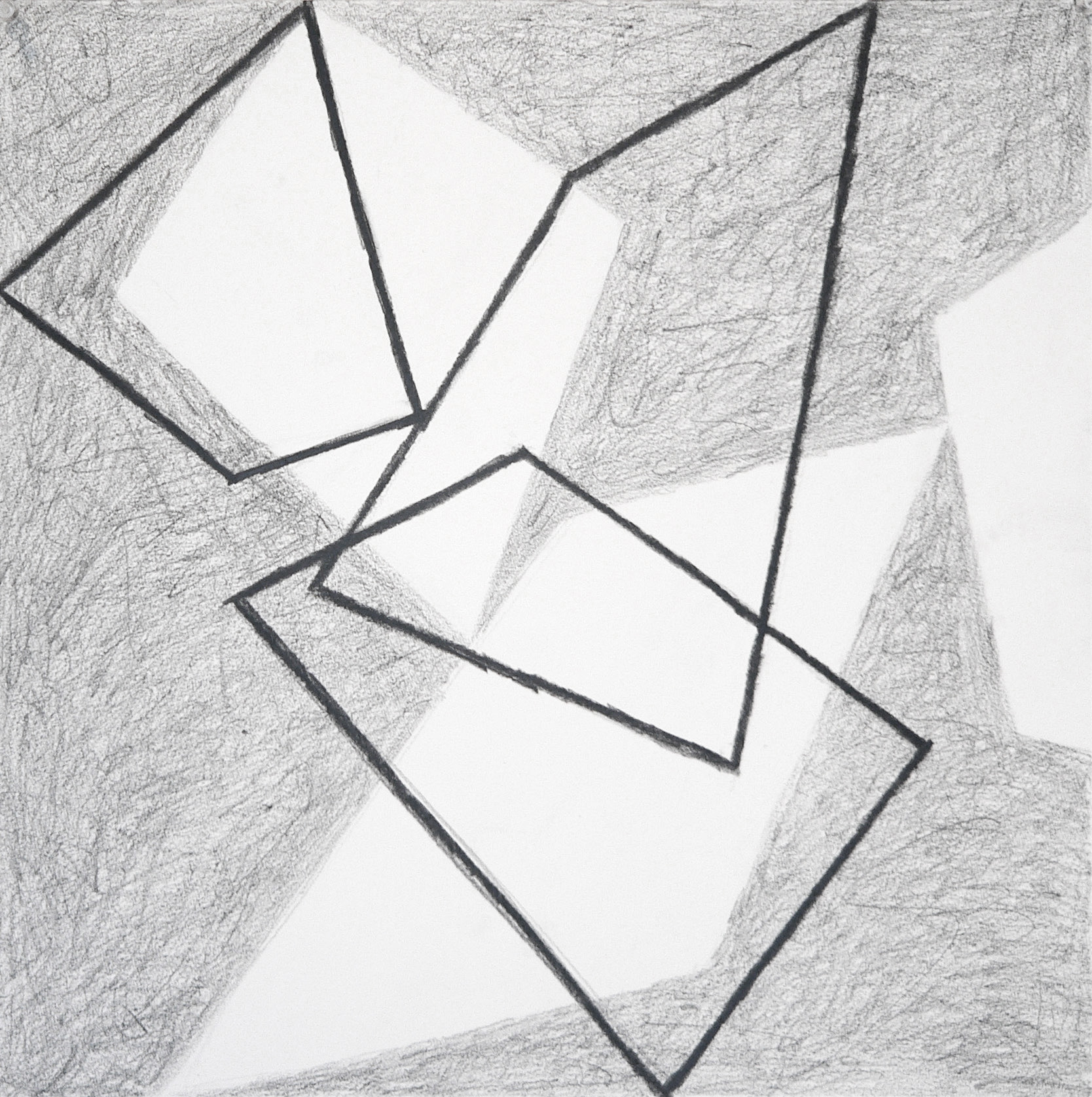 Bounce 2   18 x 18 in  Graphite on Canson Pastelle Paper