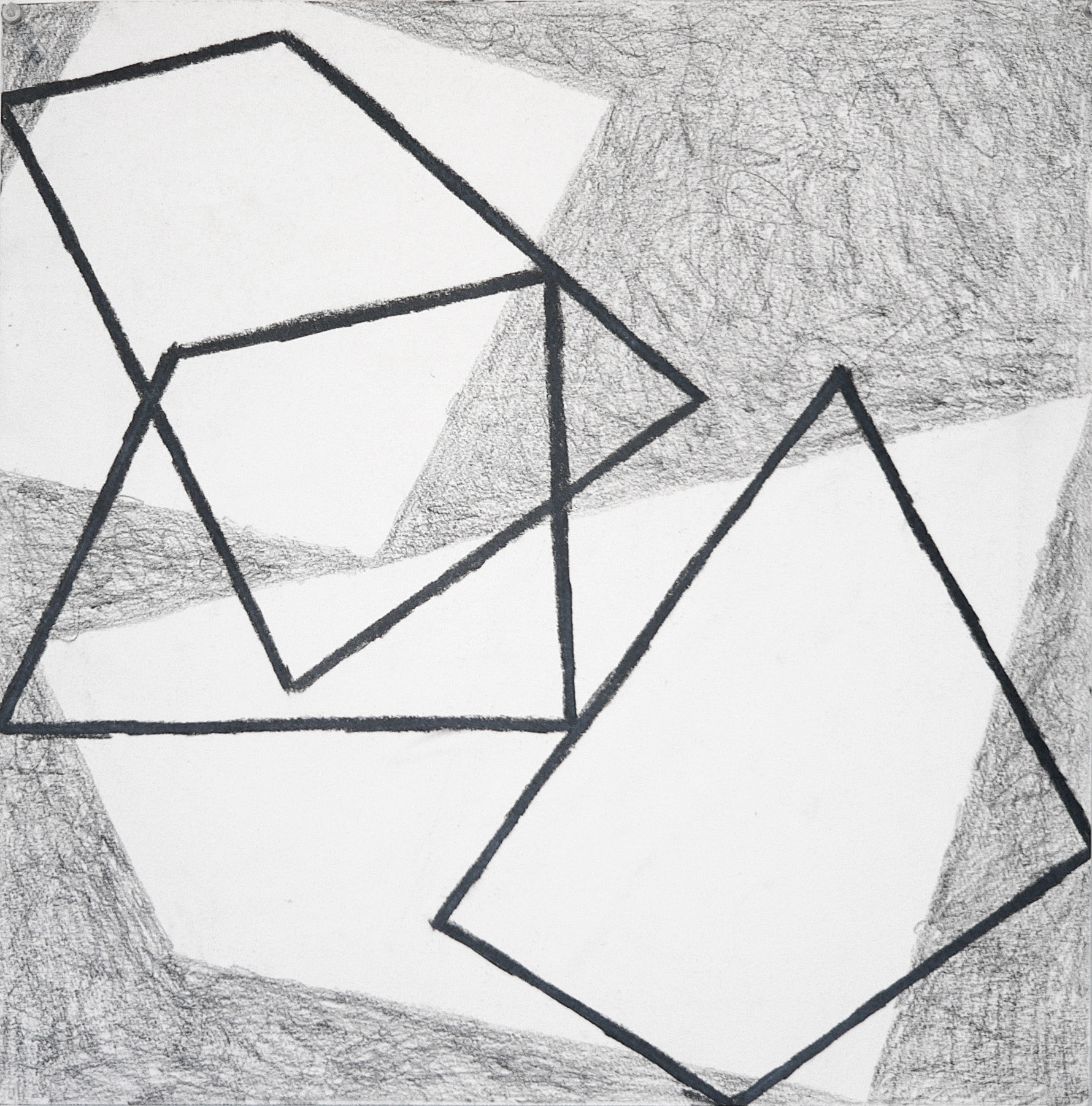 Bounce 3   18 x 18 in  Graphite on Canson Pastelle Paper