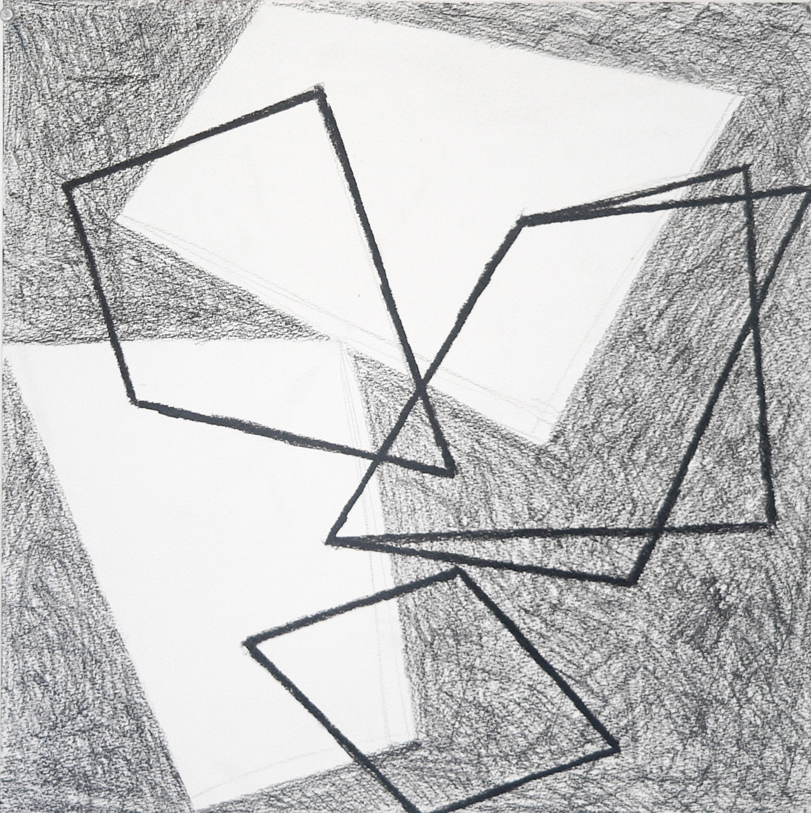 Bounce 5  18 x 18 in  Graphite on Canson Pastelle Paper