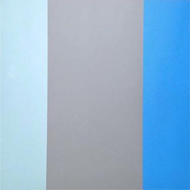 "18.42  36x36x2"" Flashe vinyl paint on Birch cradled panel"