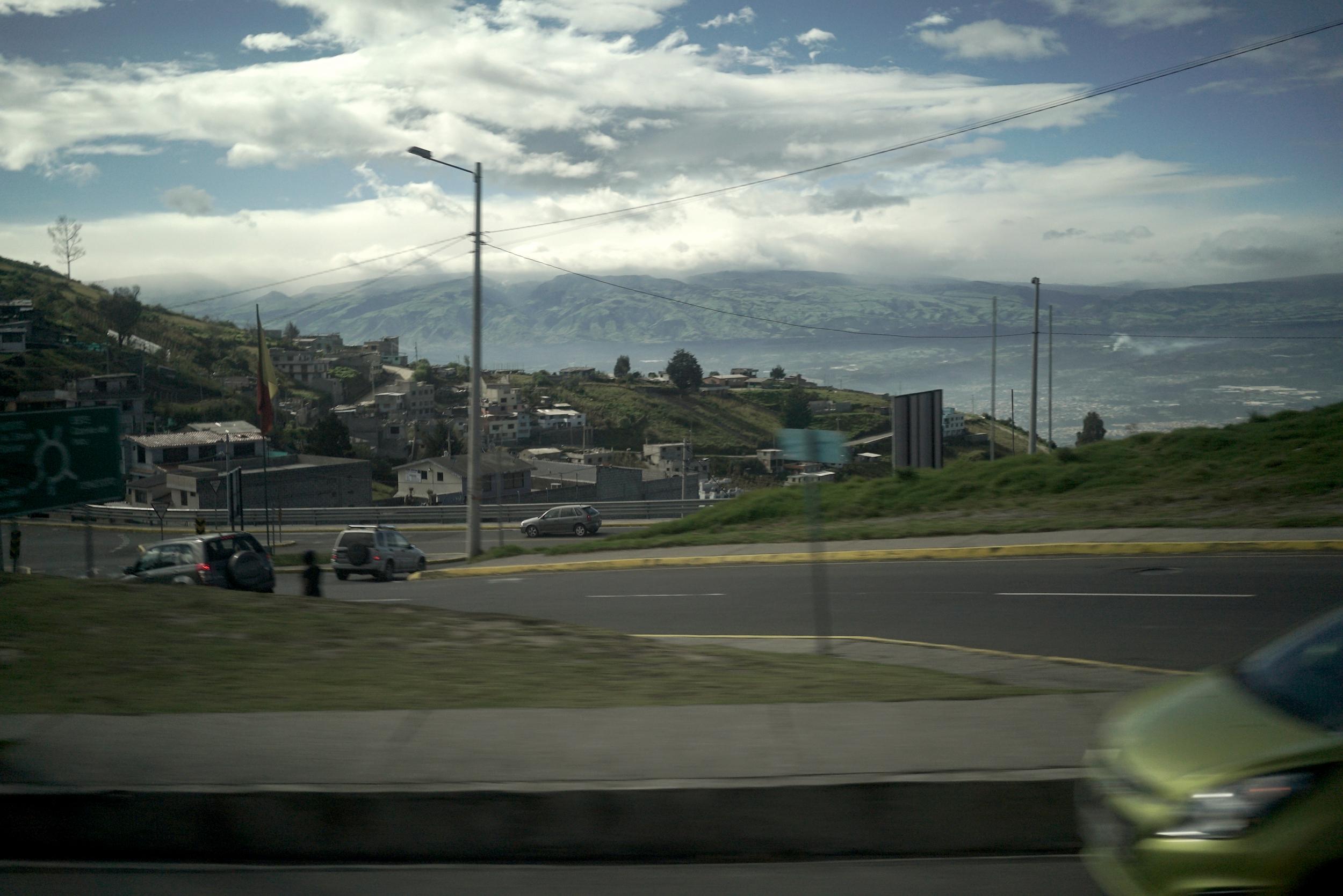 En quittant Quito