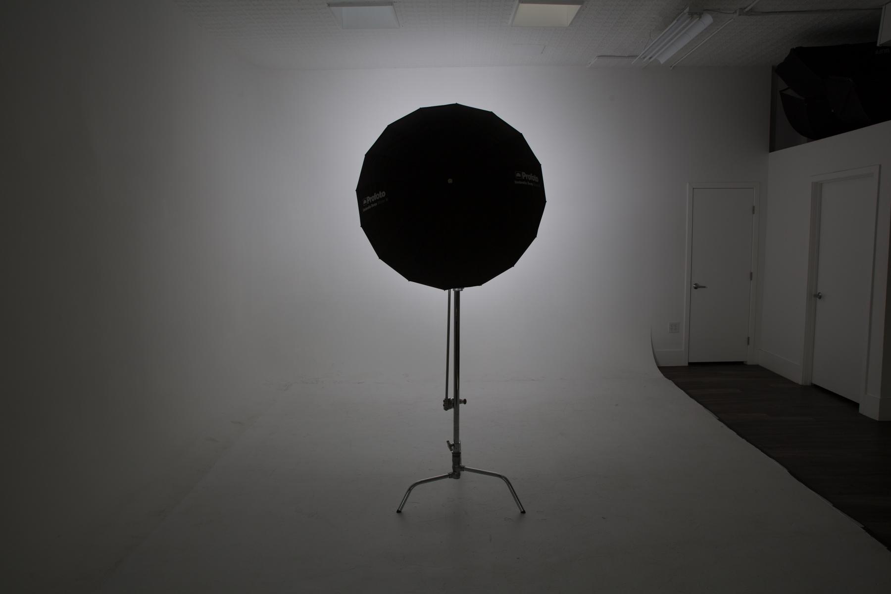 B1X M Deep Silver Umbrella w/o Diffusion