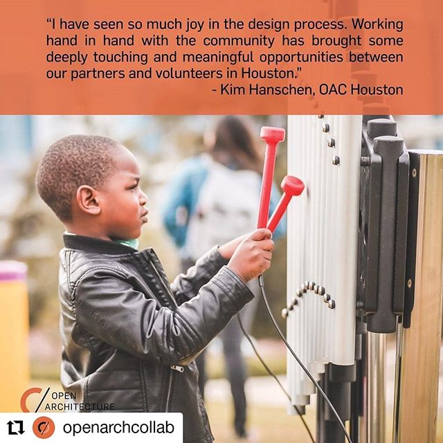 Consider donating to @openarchcollab on #givingtuesday this year to support projects like @openarch_htx 's musical play space at Esquina de Musica