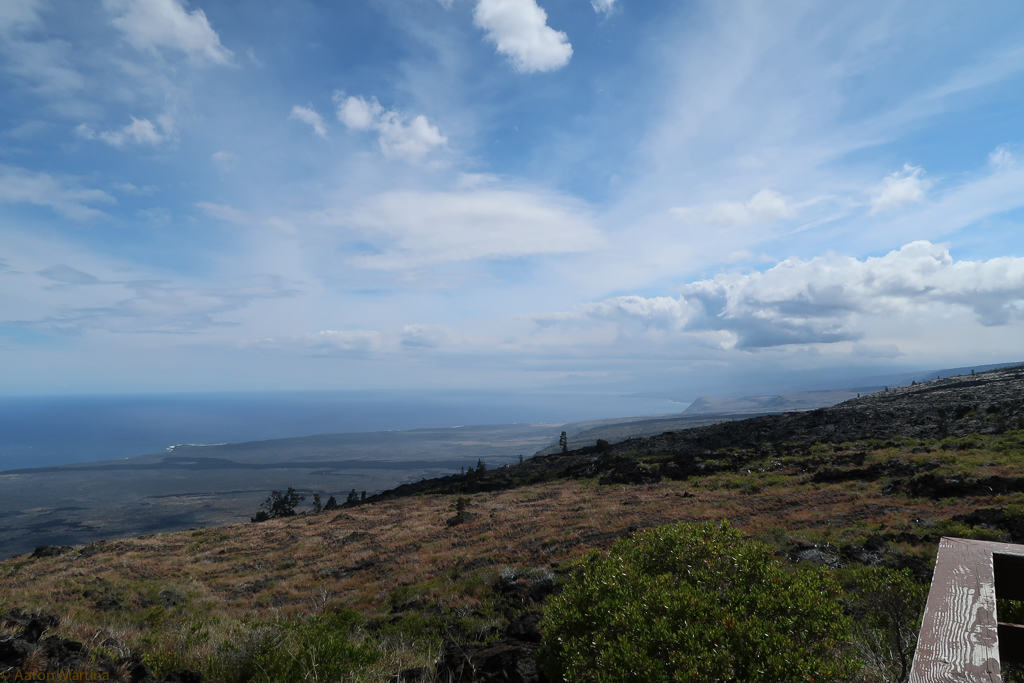 Overlook along the Chain of Craters road