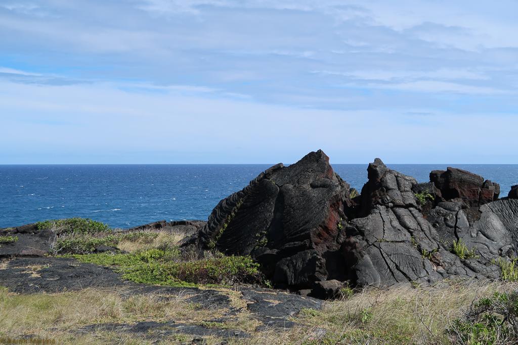 Lava rock by the ocean