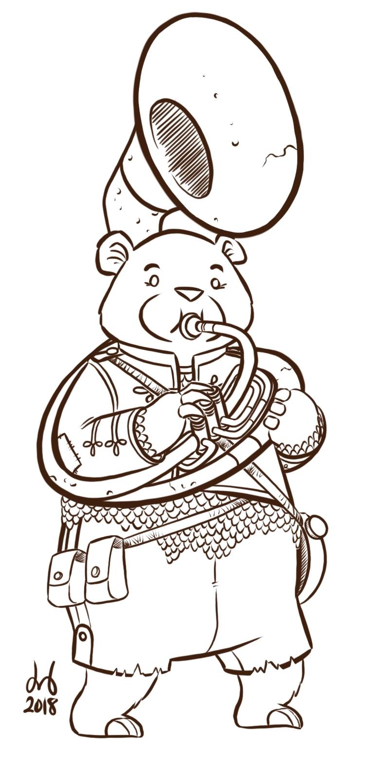 Sousaphone Bear