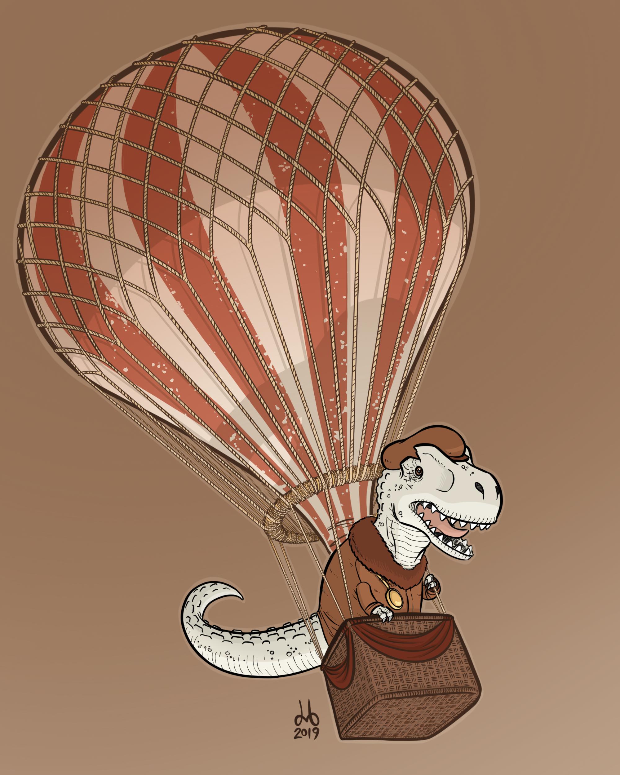 Alabaster Allosaurus Aeronaut