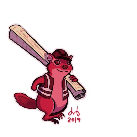Crimson Chipmunk Civil Engineer