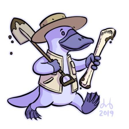 Periwinkle Platypus Paleontologist